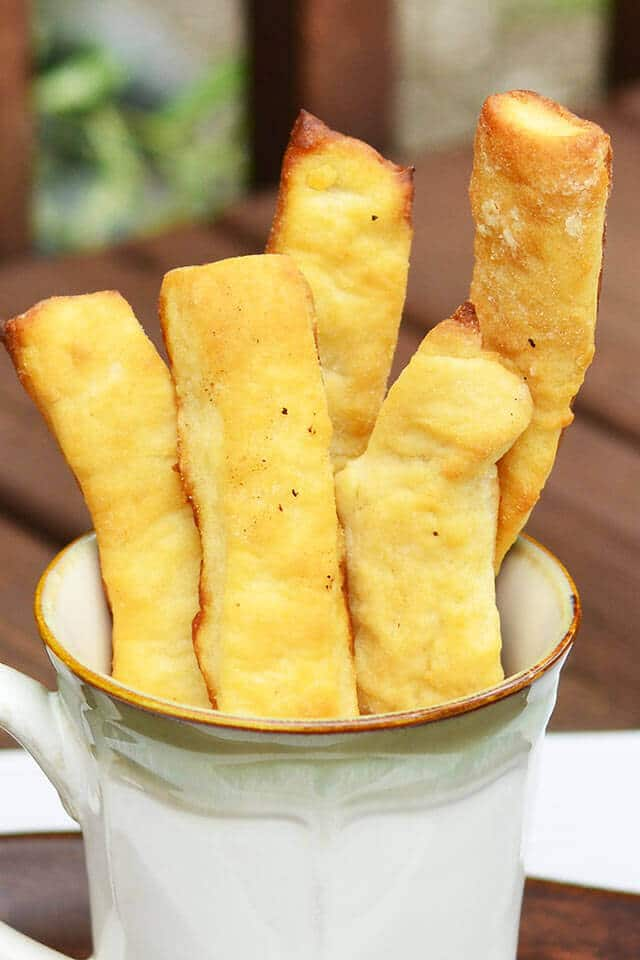 Butter Dips: These biscuit-like, buttery breadsticks have a crispy exterior and chewy interior. Just the right addition to your meal!