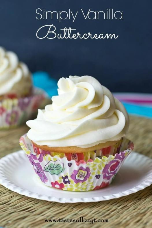 Simply Vanilla Buttercream {Tastes of Lizzy T}