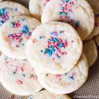 soft, chewy homemade sugar cookies with spinkles