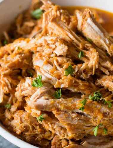 Barbecued Pulled Pork is a classic sandwich. Find out how to make pulled pork a little healthier with this sugar-free homemade barbecue sauce recipe! Fits Paleo and Whole30 diet plans.
