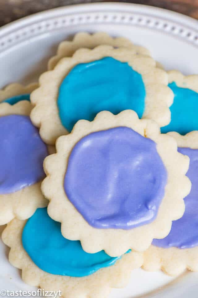 cream cheese sugar cookies with easy frosting