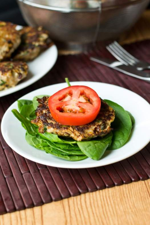 Sweet Potato Spinach Bacon Burgers {Tastes of Lizzy T}