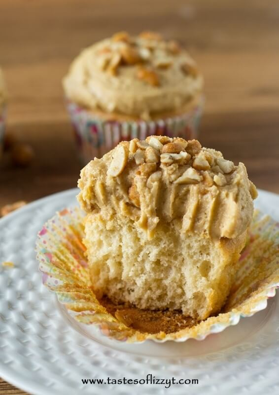 Calling all peanut butter lovers! Add peanut butter and honey to your cupcakes and frosting to make Honey Roasted Peanut Butter Cupcakes. So simple and so good!