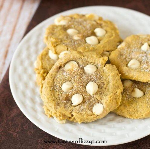White Chocolate Chip Pumpkin Cookies