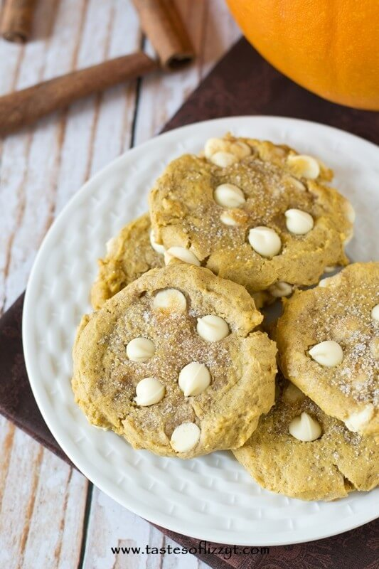 the best pumpkin white chocolate cookies I've ever eaten!