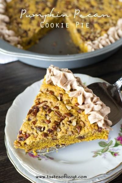 Pumpkin Pecan Cookie Pie