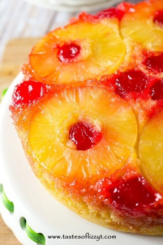 Brown sugar syrup and pineapple bakes into the bottom of this moist, yellow Pineapple Upside-Down Cake. An Amish country favorite!