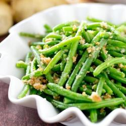 italian green beans with bread crumbs
