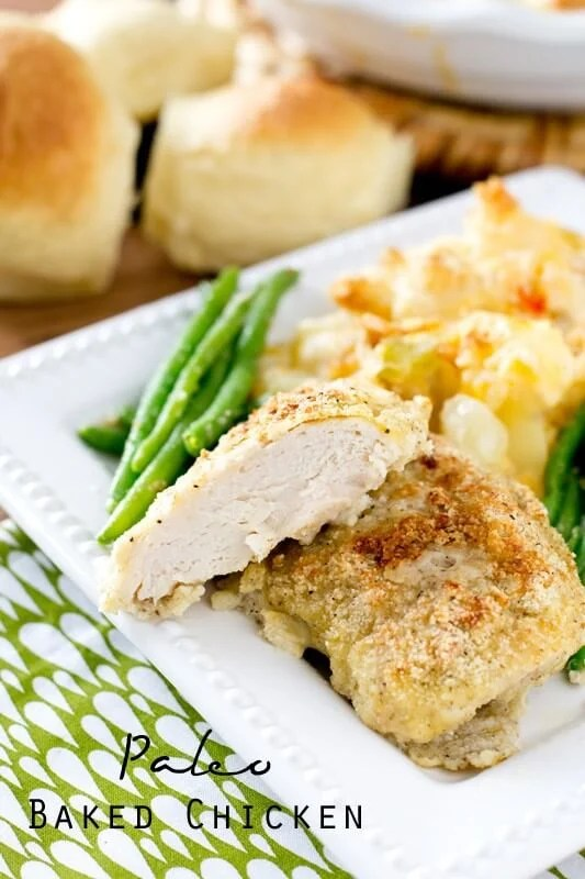 Looking for a new way to make chicken that fits the Paleo diet? This tender, Paleo Baked Chicken is covered with savory spices and drizzled with butter.