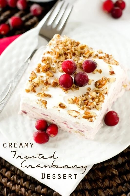 Creamy Frosted Cranberry Dessert