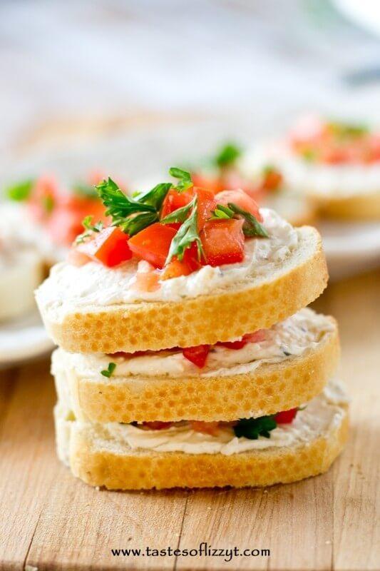Italian Tomato Sandwiches recipe - Tastes of Lizzy T