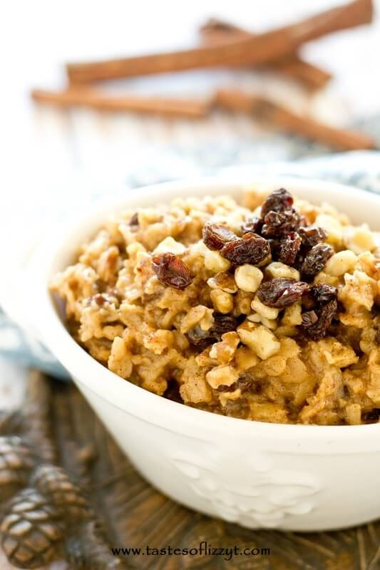 Thick, hearty, cooked rolled oats, raisins and nuts fill this lightly sweetened lumberjack oatmeal. This hot cereal is true comfort food, warming you up on cold winter mornings.