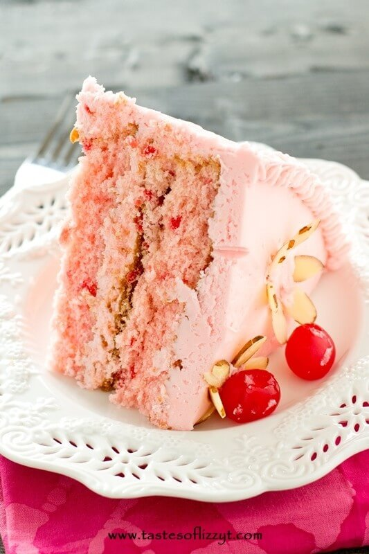 Cherry Almond Cake - Tastes of Lizzy T