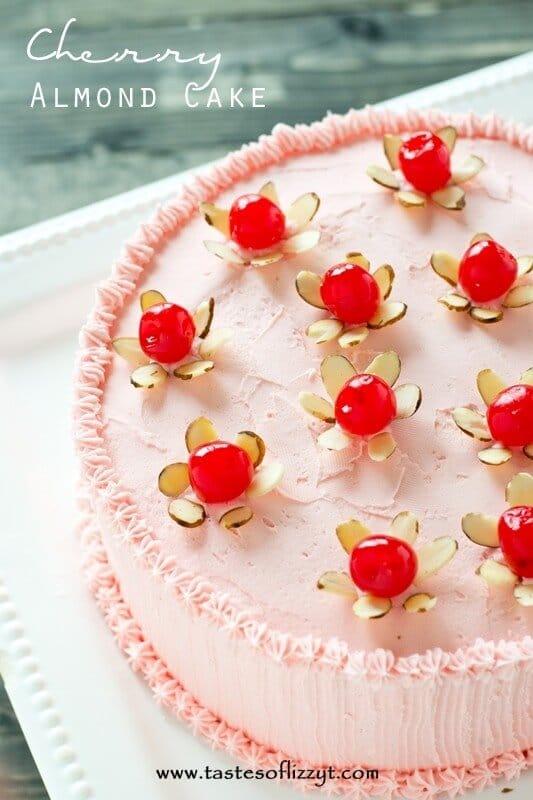 Cherry Almond Cake - Tastes of Lizzy T
