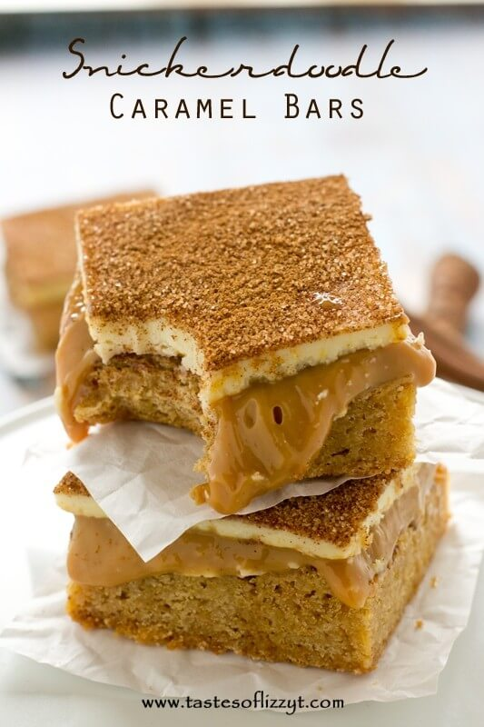 Snickerdoodle Caramel Bars - Tastes of Lizzy T