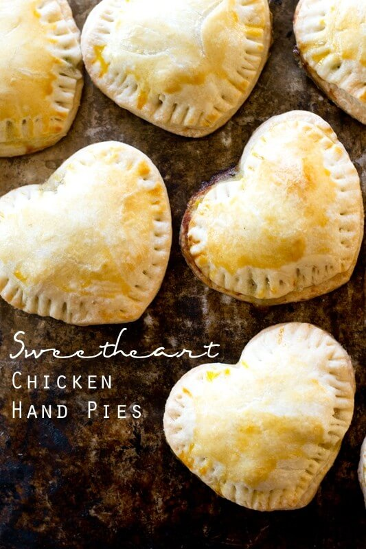 Sweetheart Chicken Hand Pies - Tastes of Lizzy T