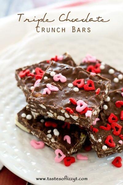 Triple Chocolate Crunch Bars