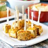 plate of cheesy ranch potato bites