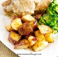 simply seasoned oven roasted potatoes