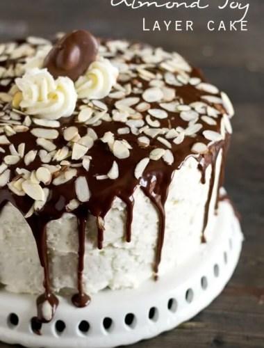 Almond Joy Layer Cake Recipe - Tastes of Lizzy T
