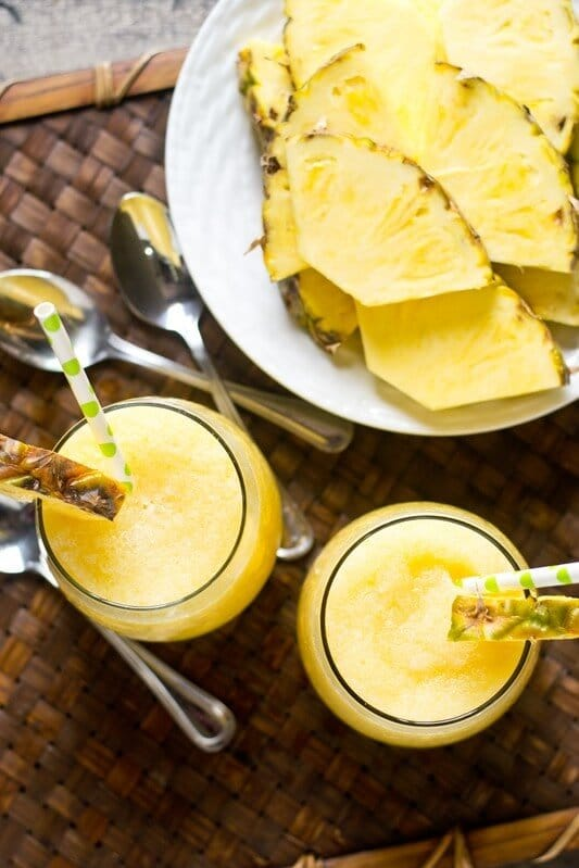 Pineapple Cream Tropical Smoothie Recipe - Tastes of Lizzy T