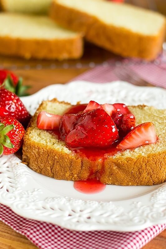 Strawberry Yogurt Cake Recipe - Tastes of Lizzy T