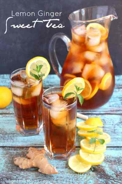 Lemon Ginger Sweet Tea