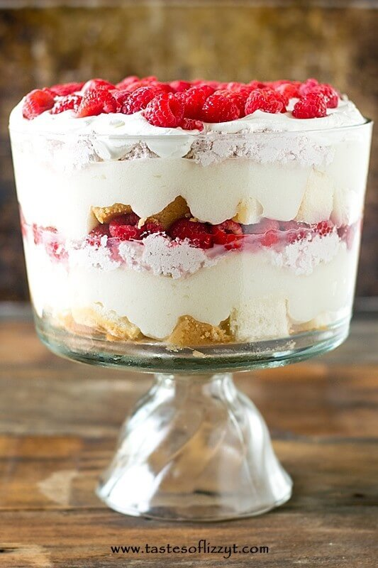 White Chocolate Raspberry Trifle Easy Dessert Recipe With