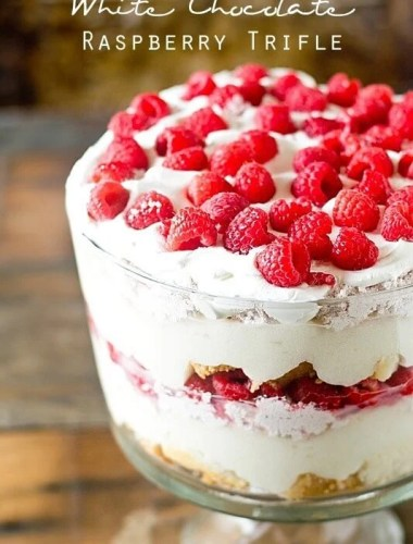 Elegant doesn't have to take a lot of time! This White Chocolate Raspberry Trifle has layers of cake, pudding and raspberry cream. Not only is it gorgeous, but it comes together quickly and serves a crowd.