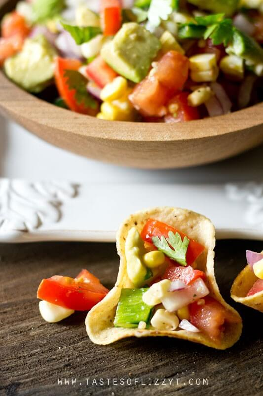Corn, Tomato and Avocado Salad makes the ideal summer side dish to take advantage of the fresh garden produce. Serve with tortilla chips as a dip, too!