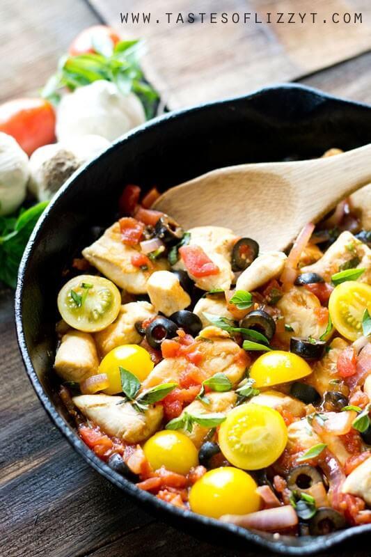 Best Mediterranean Diet Dinner Recipes like One Skillet Chicken