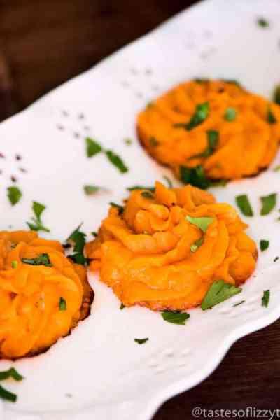 Twice Baked Sweet Potato Puffs