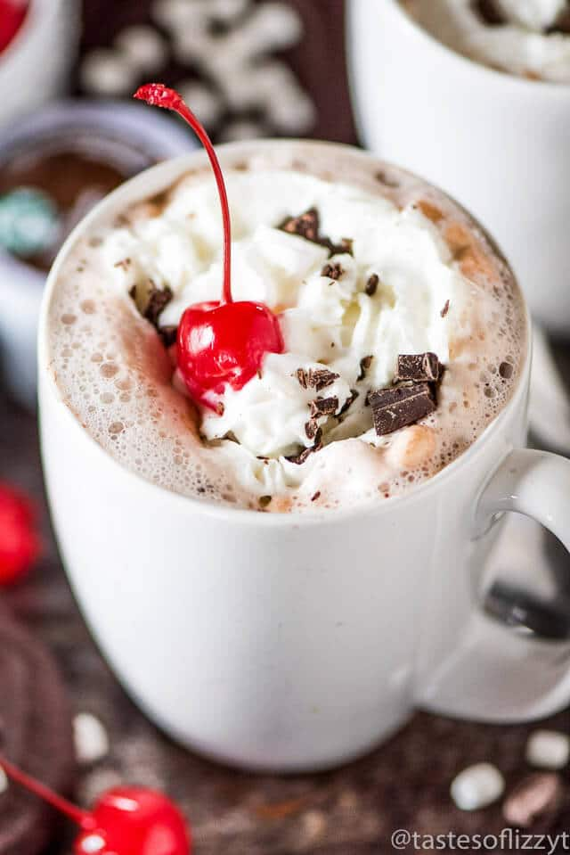 Chocolate Covered Cherry Hot Chocolate Tastes Of Lizzy T