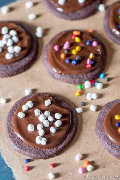 Iced Chocolate Shortbread Cookies