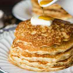 This thick & hearty, easy oatmeal pancakes recipe keeps your family nourished and ready for the day. An easy breakfast idea!