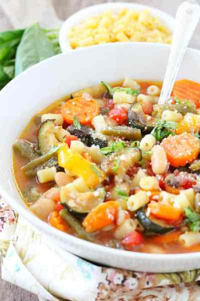 Roasted Vegetable Minestrone Soup