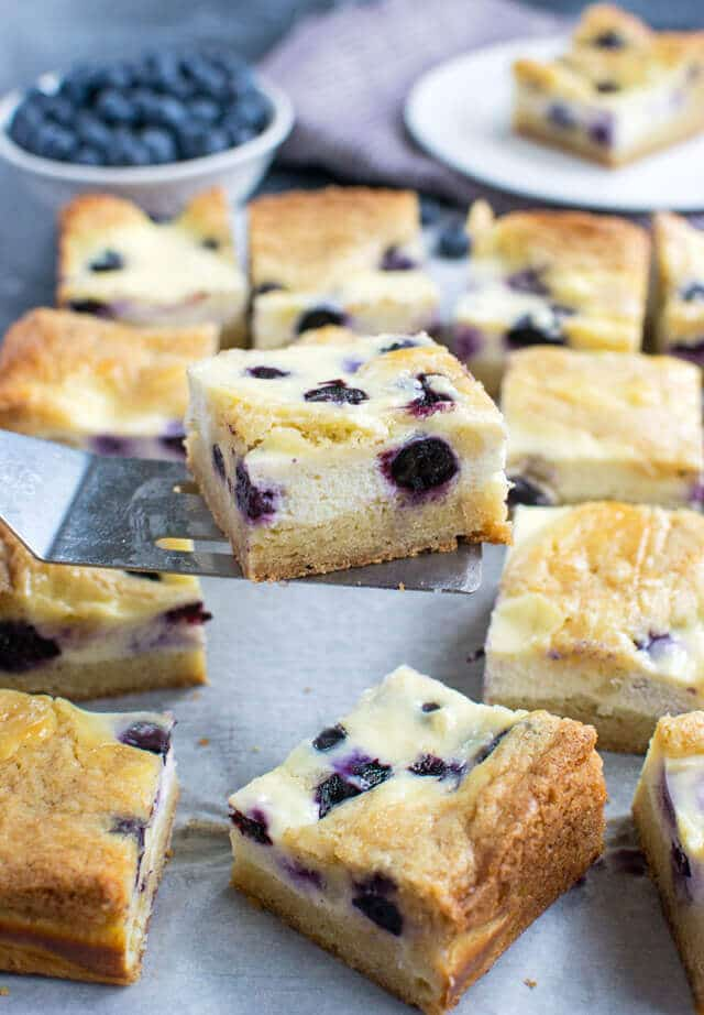 Blueberry Cheesecake Blondies