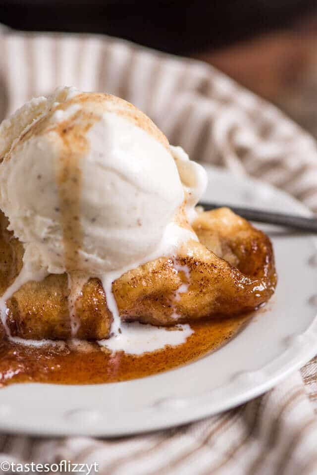instant pot apple dumplings with apple cider syrup