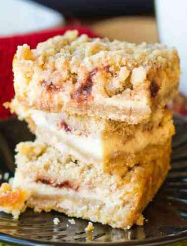 Cranberry Cream Cheese Bars Recipe {Easy Christmas Dessert Recipe}