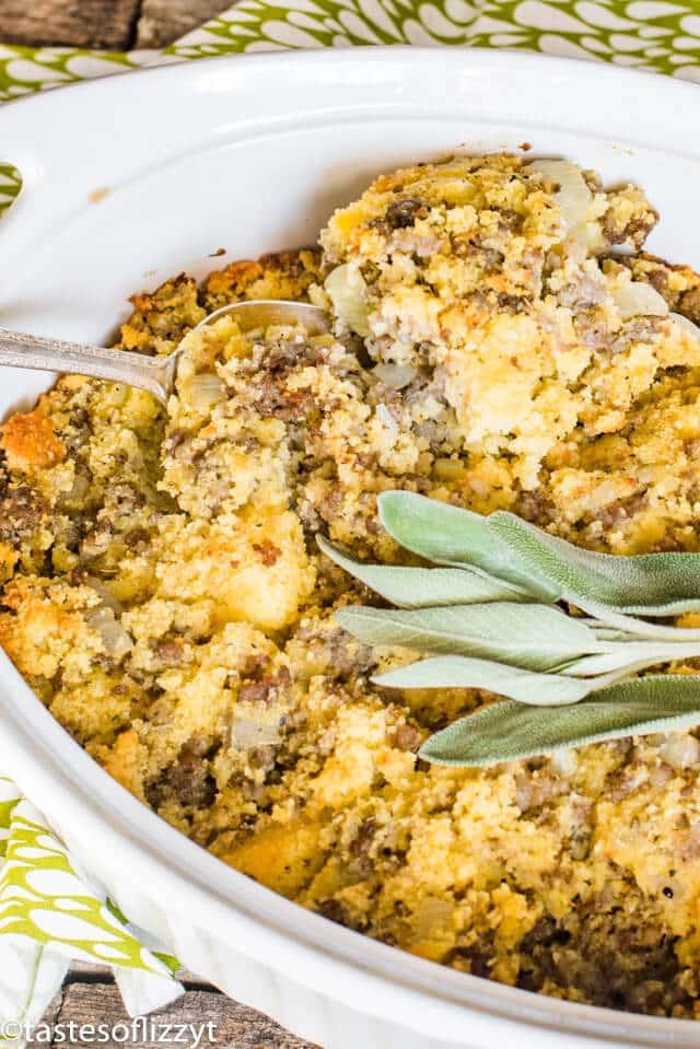 Sausage Cornbread Stuffing Recipe {Savory Side Dish}