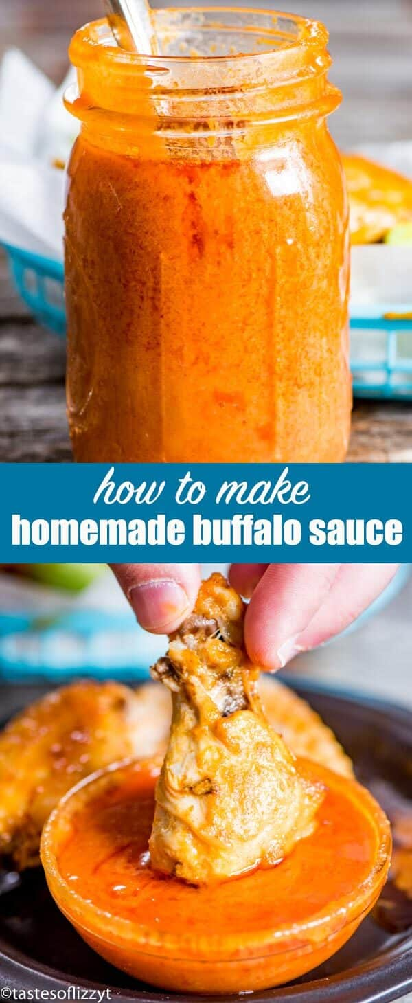 The best homemade buffalo sauce recipe. Made just as you like it with the right