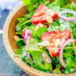 strawberry salad with almonds
