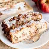 slice of homemade apple fritter bread