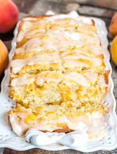 quick bread with fresh peaches