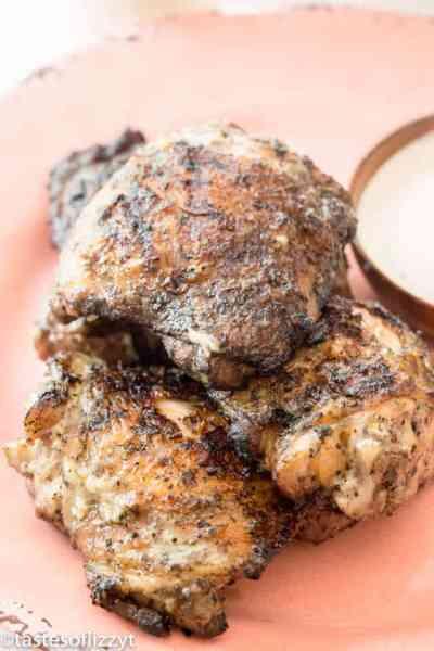 Grilled Chicken Thighs & White BBQ Sauce