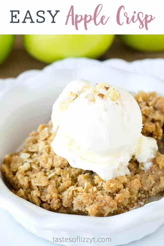 titled photo (and shown): Easy Apple Crisp