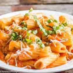creamy tomato sauce recipe