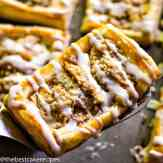 homemade apple crumble pastry