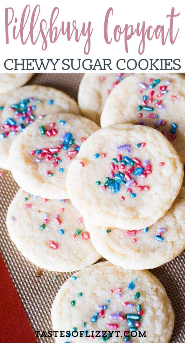 Soft, chewy sugar cookies that tastes just like Pillsbury. A quick under 30-minute cookie recipe with no refrigeration required.