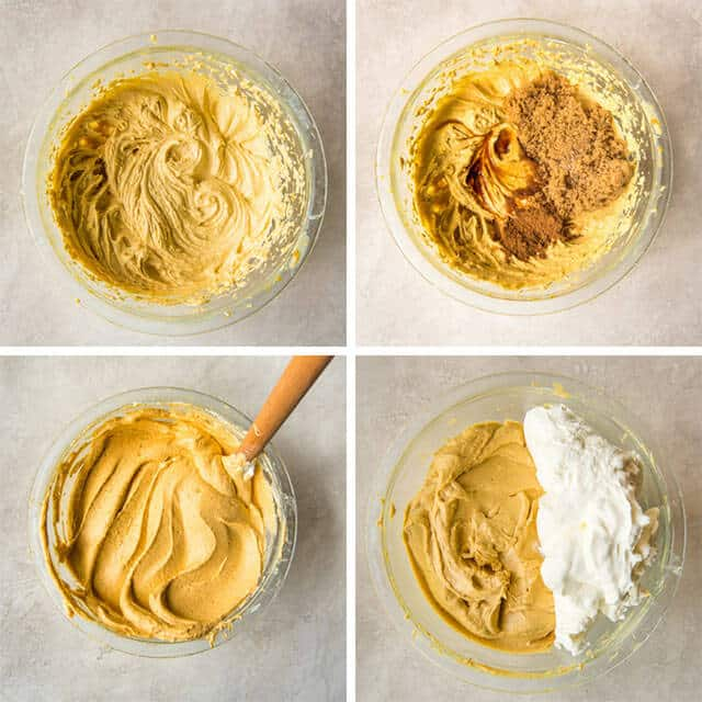 pumpkin cheesecake layer for brownies